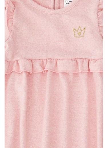 DeFacto Kız Bebek Nakış İşleme Elbise Pembe